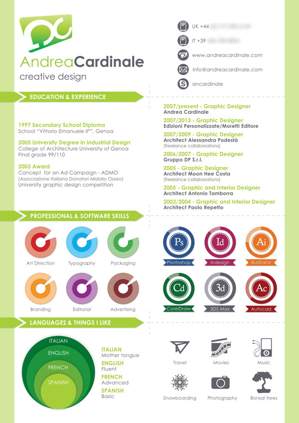 graphic design resume samples 2012