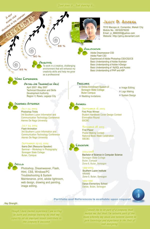 Resume Designs Best Creative Resume Design Infographics July 2018 WG - attractive resume format