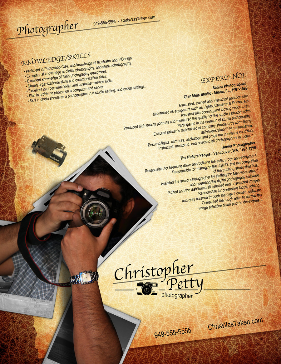 photographer resume sample sample resume and free