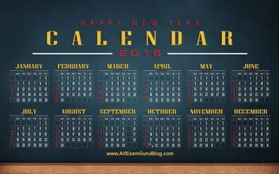 2016 Year Calendar Wallpaper: Download Free 2016 Calendar by Month | Nov 2018 WG