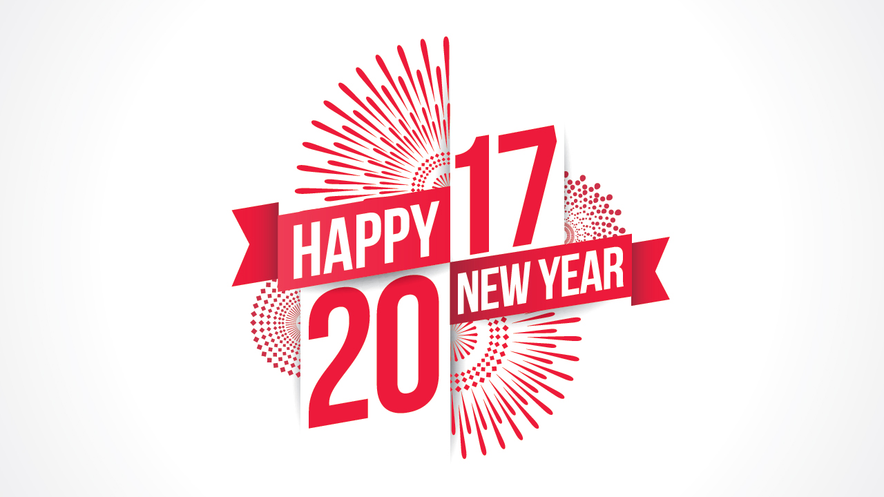 New year background 2017