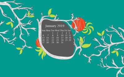 Calendar Wallpaper 2019: Download Monthly 2019 Calendar Wallpaper Free | Dec 2018 WG