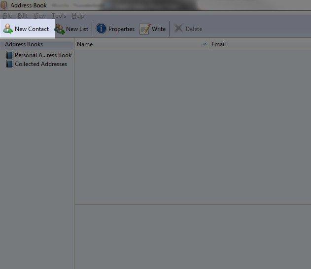 Managing your Address Book in Thunderbird Web Hosting Hub