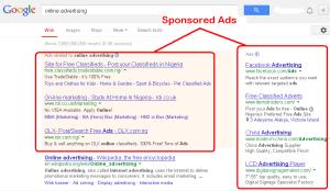 Online Advertising - Google Sponsored Ads (PPC)
