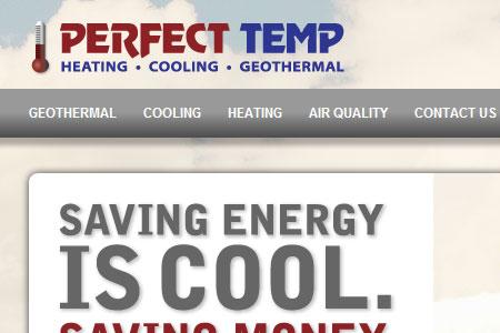 Web Design Portfolio Perfect Temp HVAC