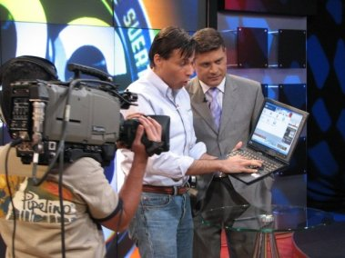 A tablet PC debuts on TV