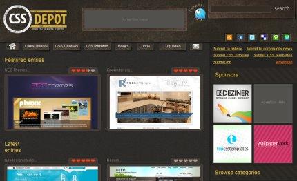 cssdepot homepage
