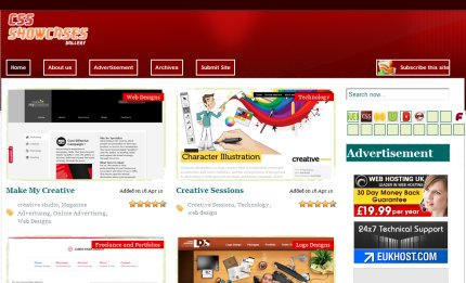 cssshowcases homepage