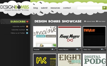designbombs homepage