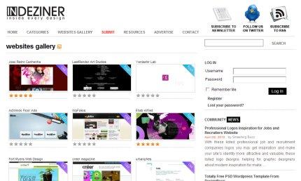 indeziner homepage