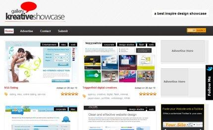 kreativeshowcase homepage