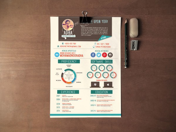 30 Creative Resume Designs for Inspiration - resume design