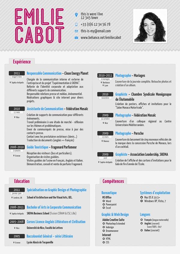 30 Creative Resume Designs for Inspiration - resume design inspiration
