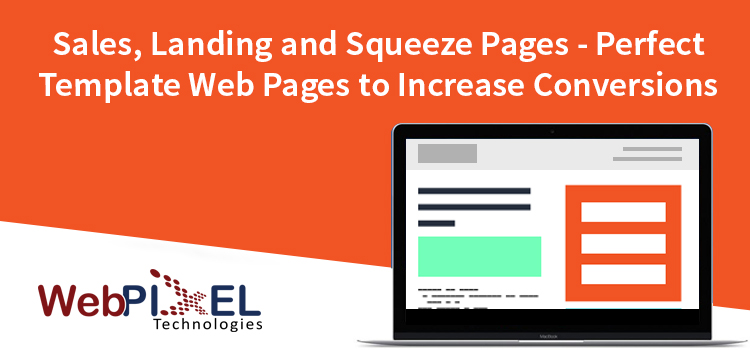 Sales Pages, Landing Page and Squeeze Pages Template Design