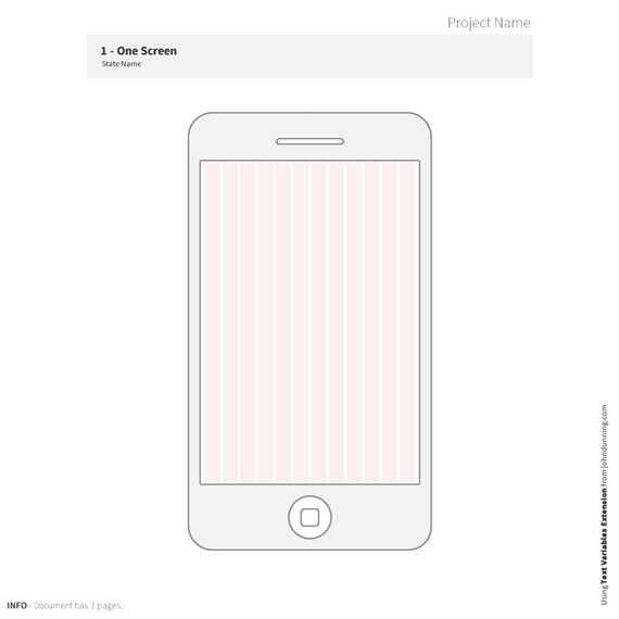 Simple 320px Mobile Wireframe Template Webportio - graphical - wireframe templates