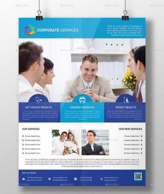 15+ Best Free and Premium PSD Flyer Templates - Webprecis - corporate flyer template