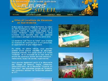 Gites Les fleurs du Soleil  Gites en Ardèche avec piscine près de Ruoms - Residence Vacances Ardeche Avec Piscine
