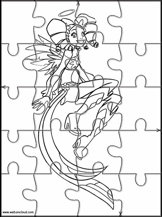 Angel\u0027s Friends Puzzle to cut out 5