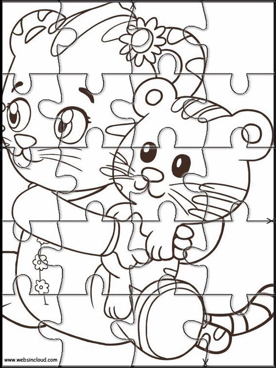 Puzzle da stampare colorare Daniel Tiger 5