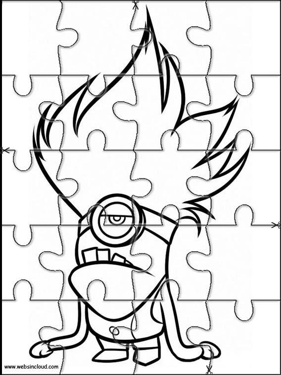 Minions Printable Jigsaw Puzzles to cut out 7