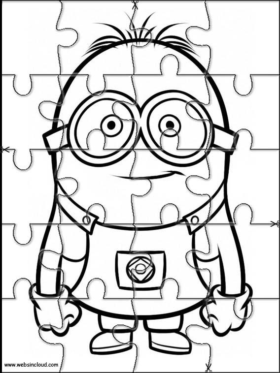 Minions Printable Jigsaw 8