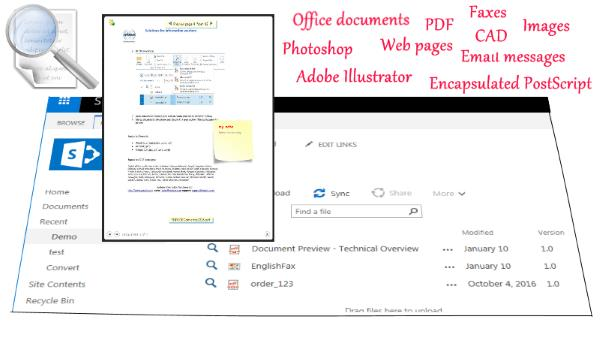 SharePoint Document Preview