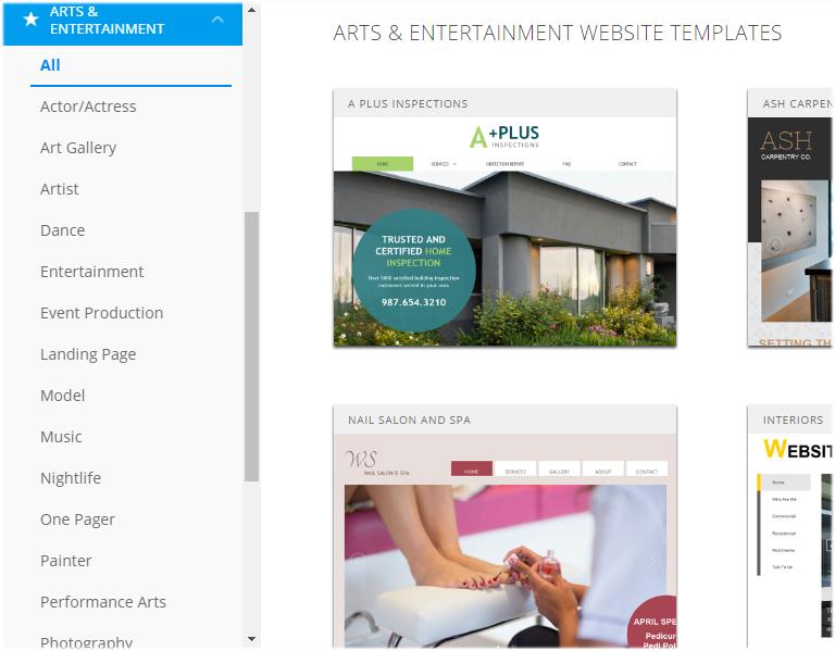 How do I choose a Website design template for my website