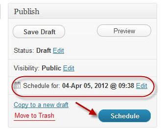 How to Schedule Your WordPress Posts