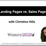 What is a Landing Page vs. a Sales Page vs. a Blog?