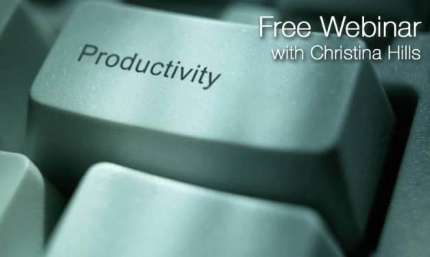 "Free Webinar: ""5 Productivity Tips for Working Faster & Smarter Online"""