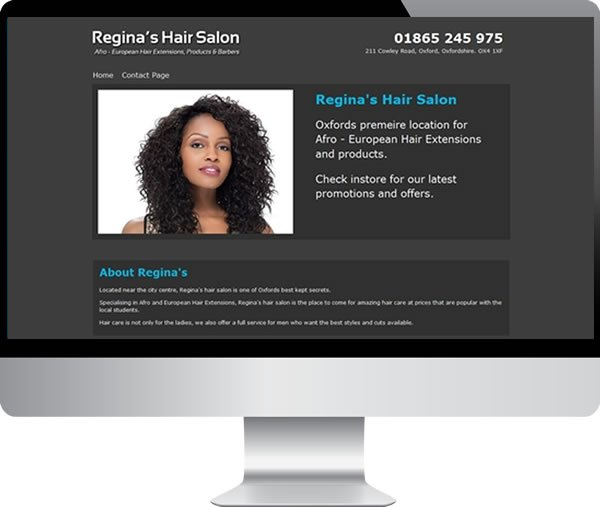 Regina\u0027s Hair Salon Websites by Mark