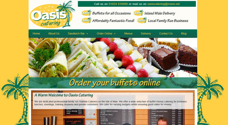 Oasis Catering Web Solutions IOM Web Design Isle of Man E