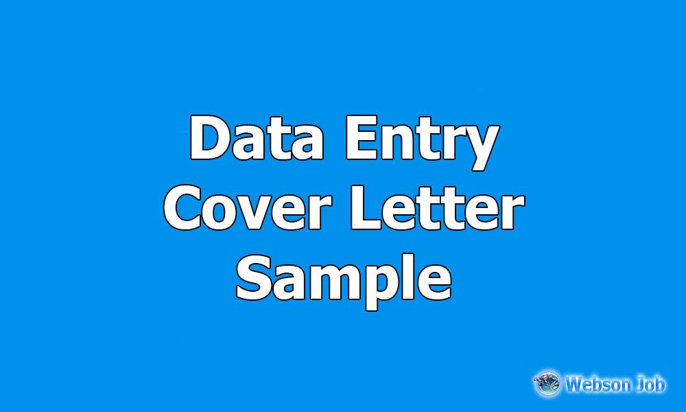Data Entry Cover Letter Sample for Upwork - Webson Job