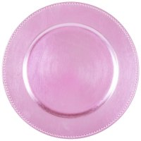 "The Jay Companies 1270173 13"" Round Pink Beaded Melamine ..."