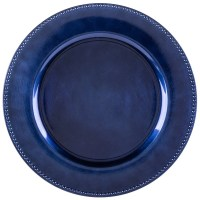 "The Jay Companies 1270168 13"" Round Royal Blue Beaded ..."