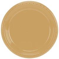 "Creative Converting 28103021B 9"" Glittering Gold Plastic ..."