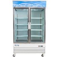 """Avantco GDC40F 49"""" White Swing Glass Door Merchandising ..."""