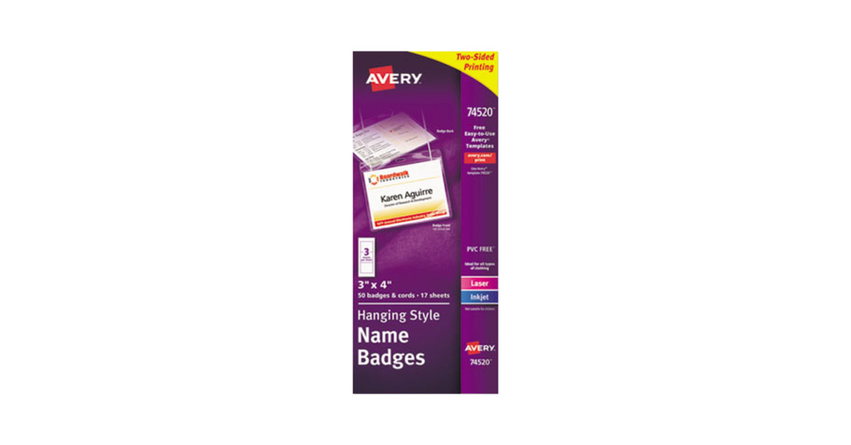 Avery Template 74520 Gro Avery Vorlage Galerie Entry Level