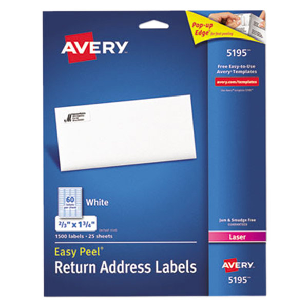Avery 5195 Easy Peel 2/3\ - printable return address labels free