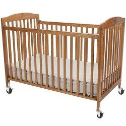 L a Baby Cs 983 a N 28 X 52 Natural Wood Folding Crib