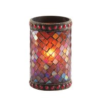 """Sterno Products 80110 4 3/4"""" Red Beaded Mosaic Liquid ..."""