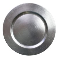 """Silver Charger Plate 