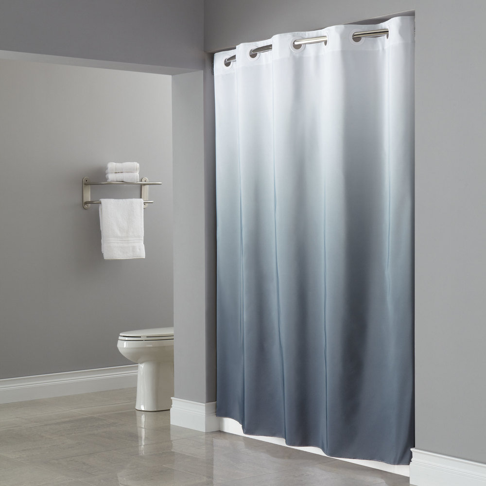 Solid teal shower curtain - Gray Shower Curtains Fabric Teal And Grey Shower Curtain