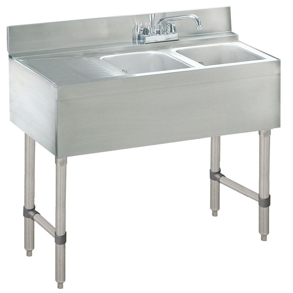 Advance Tabco Crb 32r Lite Two Compartment Stainless Steel