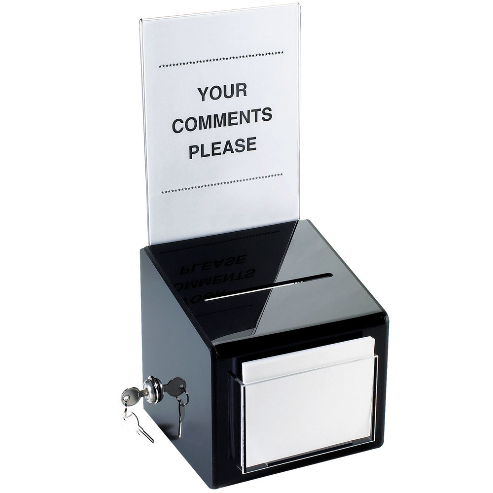 comment card box