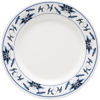 """GET M-5050-B Water Lily 8"""" Melamine Plate - 12/Pack"""