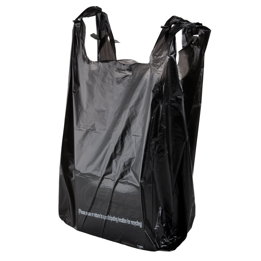 Black t shirt carryout bags -  Carryout Bags Size Black T Shirt Bag 850 Case Download