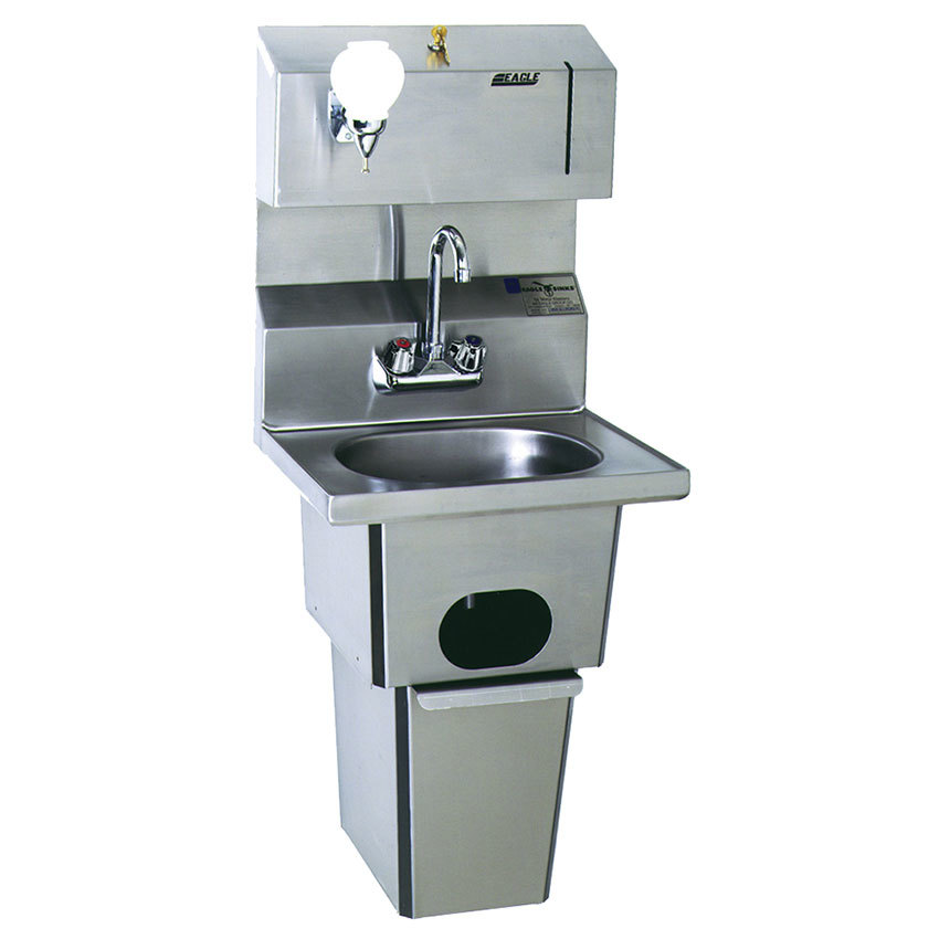 Eagle Group Hsa 10 Fdp T Hand Sink With Gooseneck Faucet