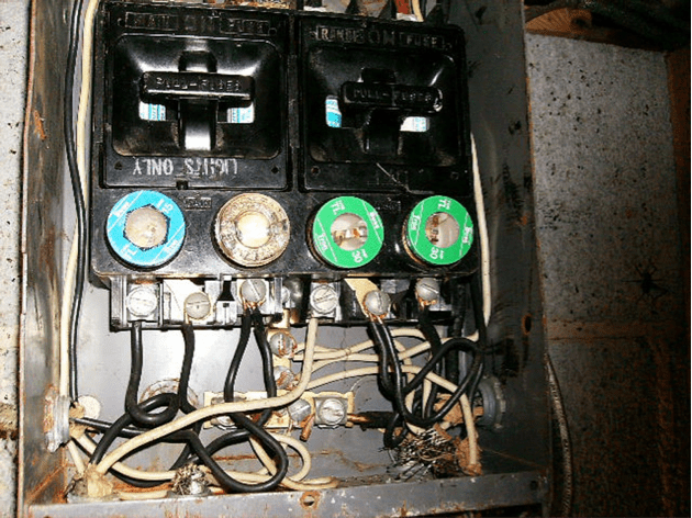 vintage fuse box house