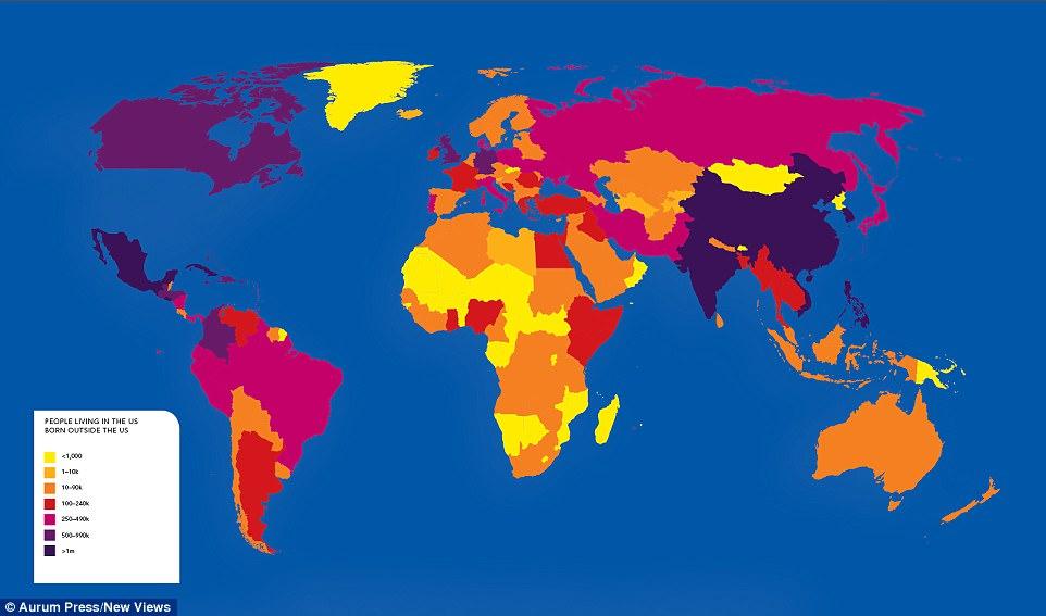 Dünya\u0027yı Hiç Olmadığı Gibi Görselleştiren 10 Harita - amerika haritasi
